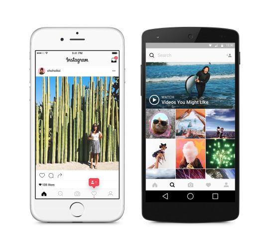 Nuova interfaccia Instagram - Webamorfosi